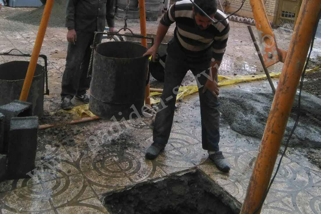 تخلیه چاه- تشخیص محل چاه - پدیده سرویس