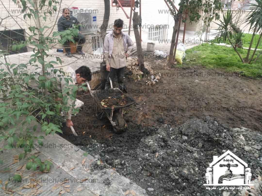 کول گذاری و تخلیه چاه شرکت پدیده سرویس